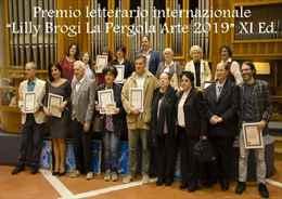 """Premio letterario internazionale """"Lilly Brogi La Pergola Arte 2019"""" XI Ed."""